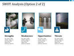 Swot Analysis Opportunities Weaknesses Threats Strengths Ppt Professional Portrait
