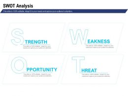 Swot Analysis Opportunity Ppt Powerpoint Presentation Visuals