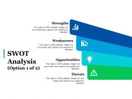 Swot Analysis Option 1 Of 2 Ppt Pictures File Formats