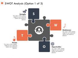 SWOT Analysis Option Opportunity Ppt Powerpoint Presentation Outline Information