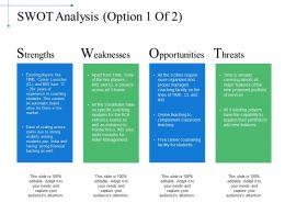 Swot Analysis Powerpoint Slide Designs Download
