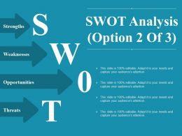 Swot Analysis Powerpoint Slide Information