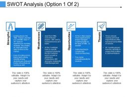 Swot Analysis Ppt Infographic Template Microsoft