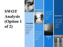 Swot Analysis Ppt Inspiration Structure