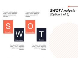 SWOT Analysis Ppt Powerpoint Presentation Visual Aids Backgrounds