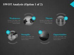 Swot Analysis Ppt Slide