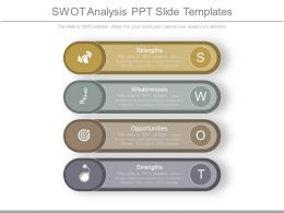 Swot Analysis Ppt Slide Templates