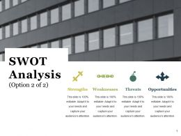 Swot Analysis Ppt Styles Portrait