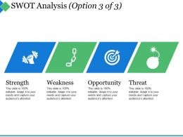Swot Analysis Ppt Summary Model