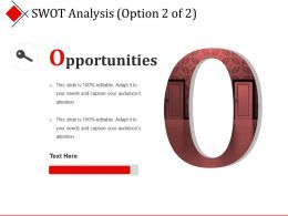 Swot Analysis Presentation Layouts