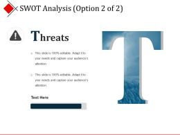 Swot Analysis Presentation Outline