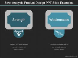 Swot Analysis Product Design Ppt Slide Examples