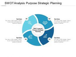 SWOT Analysis Purpose Strategic Planning Ppt Powerpoint Presentation Ideas Cpb