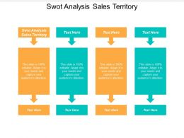Swot Analysis Sales Territory Ppt Powerpoint Presentation Model Icon Cpb