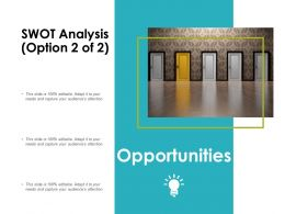 Swot Analysis Slide Opportunities Ppt Powerpoint Presentation Infographics Styles