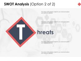 Swot Analysis Slide Threats D202 Ppt Powerpoint Presentation Infographic Template Diagrams
