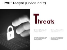 Swot Analysis Slide Threats D233 Ppt Powerpoint Presentation Infographic Template Template