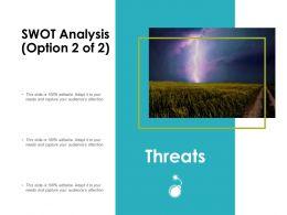 Swot Analysis Slide Threats Ppt Powerpoint Presentation Infographics Summary