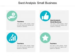 Swot Analysis Small Business Ppt Powerpoint Presentation Slides Influencers Cpb