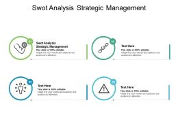 Swot Analysis Strategic Management Ppt Powerpoint Presentation Professional Cpb