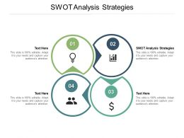 SWOT Analysis Strategies Ppt Powerpoint Presentation Outline Layout Ideas Cpb