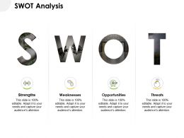 SWOT Analysis Strength L787 Ppt Powerpoint Presentation Model Designs