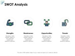 Swot Analysis Strengths Weaknesses Ppt Powerpoint Presentation Gallery Slide Portrait