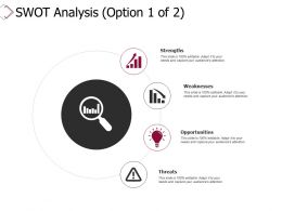 Swot Analysis Strengths Weaknesses Threats Opportunities Ppt Powerpoint Presentation