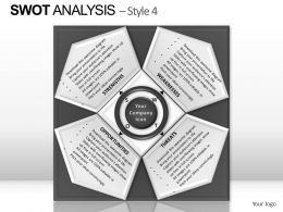 Swot Analysis Style 4 Powerpoint Presentation Slides