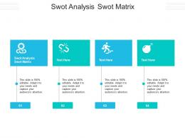 Swot Analysis Swot Matrix Ppt Powerpoint Presentation Pictures Designs Cpb