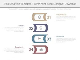 Swot Analysis Template Powerpoint Slide Designs Download
