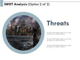Swot Analysis Threats Planning E175 Ppt Powerpoint Presentation Show