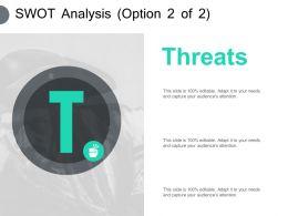 Swot Analysis Threats Ppt Powerpoint Presentation Pictures Portfolio