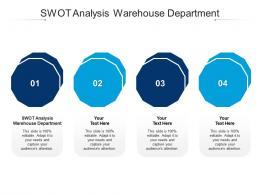 SWOT Analysis Warehouse Department Ppt Powerpoint Presentation File Clipart Images Cpb