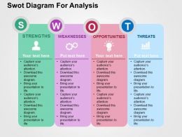 Swot Diagram For Analysis Flat Powerpoint Design