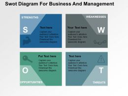 Swot Diagram For Business And Management Flat Powerpoint Design