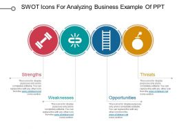 Swot Icons For Analyzing Business Example Of Ppt