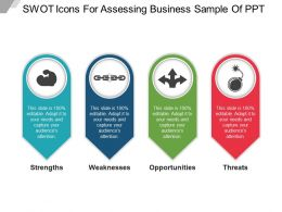 Swot Icons For Assessing Business Sample Of Ppt