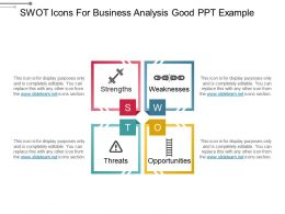 Swot Icons For Business Analysis Good Ppt Example