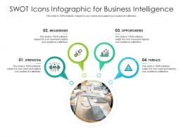 SWOT Icons For Business Intelligence Infographic Template