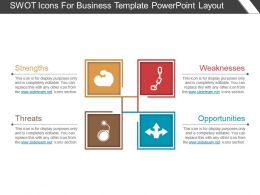 Swot Icons For Business Template Powerpoint Layout