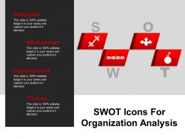 Swot Icons For Organization Analysis Powerpoint Ideas