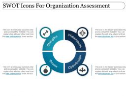 Swot Icons For Organization Assessment Powerpoint Images