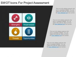 Swot Icons For Project Assessment Powerpoint Layout