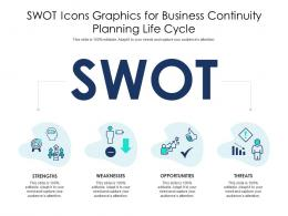SWOT Icons Graphics For Business Continuity Planning Life Cycle Infographic Template