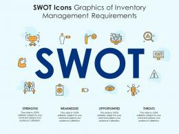 SWOT Icons Graphics Of Inventory Management Requirements Infographic Template