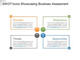 Swot Icons Showcasing Business Assessment Powerpoint Show