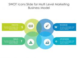 SWOT Icons Slide For Multi Level Marketing Business Model Infographic Template