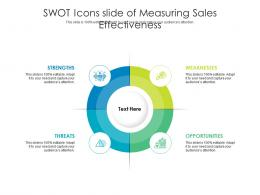 SWOT Icons Slide Of Measuring Sales Effectiveness Infographic Template