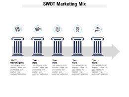 Swot Marketing Mix Ppt Powerpoint Presentation Summary Design Ideas Cpb